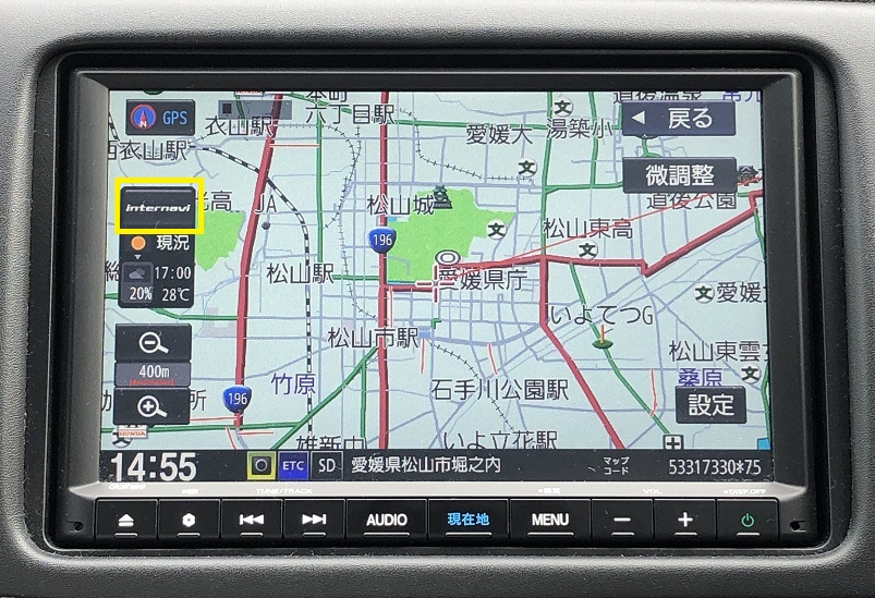 地図表示画面